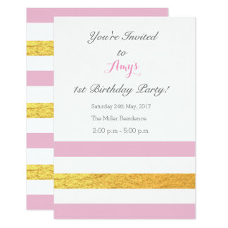 Invitations de rose et d'or
