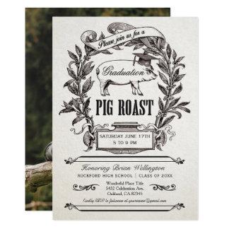 Invitations de rôti de porc d'obtention du diplôme