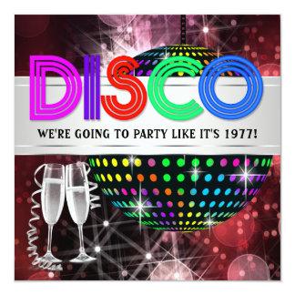 Invitations de soirée dansante de disco