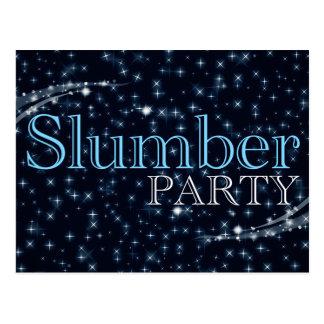 invitations de soirée pyjamas : starshine