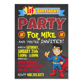 Invitations de super héros d'anniversaire. Fête Carton D'invitation 12,7 Cm X 17,78 Cm