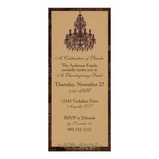 Invitations de thanksgiving de lustre