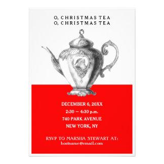 Invitations de thé de Noël