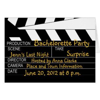 Invitations de thème de film de partie de Bachelor Cartes De Vœux