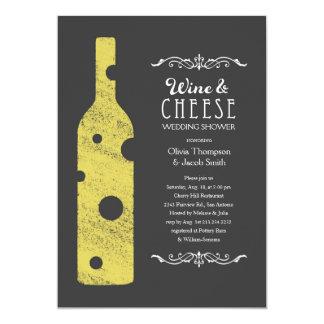 Invitations de vin et de fromage de wedding shower