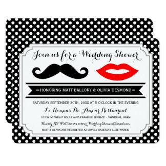 Invitations de wedding shower de moustache et de