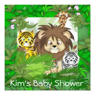 Invitations de ZOO de jungle de BABY SHOWER