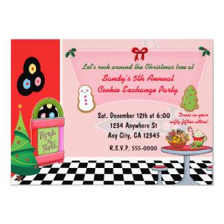 invitations d'échange de biscuit de Noël de dîneur