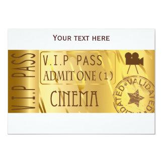 Invitations d'or de billet de film