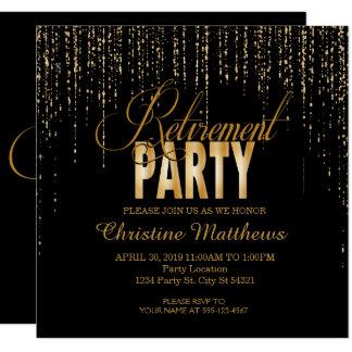 Invitations d'or de partie de retraite