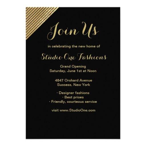 Invitations d'ouverture officielle d'accent d'or