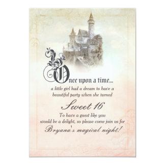 Invitations du bonbon 16 à château de livre de