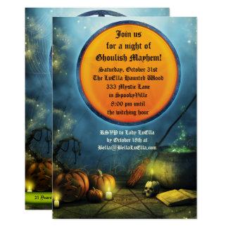 Invitations éffrayantes de partie de Halloween