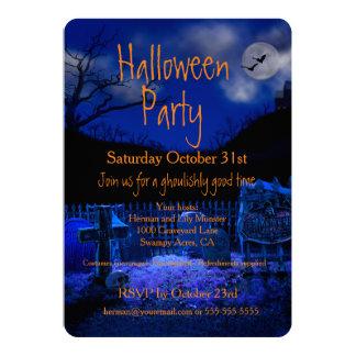 Invitations éffrayantes de partie de Halloween de