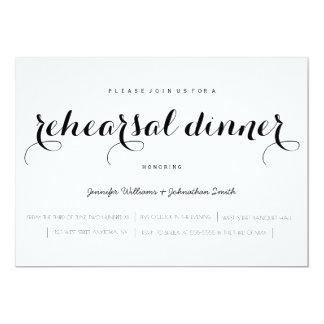 Invitations élégantes de dîner de répétition de