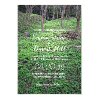 Invitations élégantes de mariage de forêt
