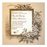 invitations élégantes vintages de partie de