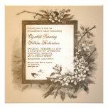 invitations élégantes vintages de partie de fiança