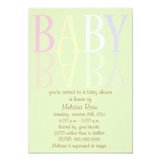 Invitations élégants et doux de baby shower de