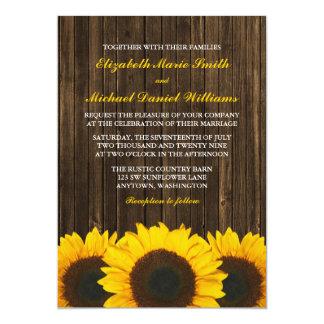 Invitations en bois de mariage de grange de