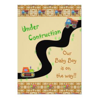 Invitations en construction de baby shower de