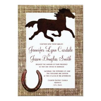 Invitations en fer à cheval de mariage de cheval