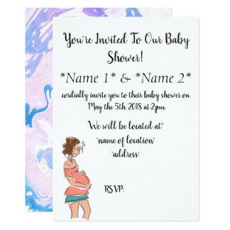 Invitations enceintes conçus simples de baby