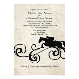 Invitations équestres anglaises vintages de