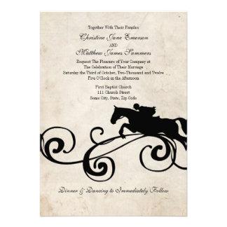 Invitations équestres anglaises vintages de mariag