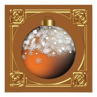 Invitations faites sur commande de fête de Noël