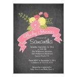 Invitations florales de baby shower de tableau mod