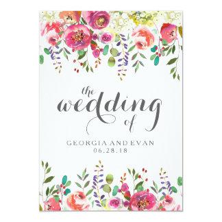 Invitations florales de mariage d'aquarelle