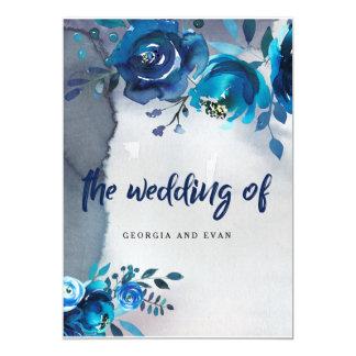 Invitations florales de mariage d'aquarelle de