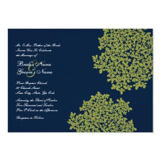 Invitations florales de mariage de marine et de