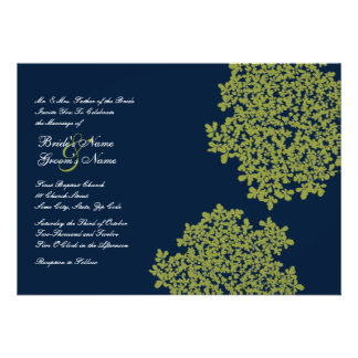 Invitations florales de mariage de marine et de ch