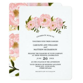 Invitations florales de mariage de peinture