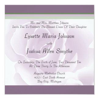 Invitations florales fraîches de mariage de rose