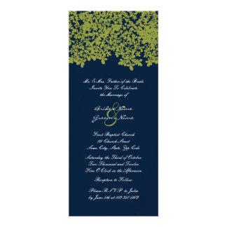 Invitations florales grandes de mariage de Navu et