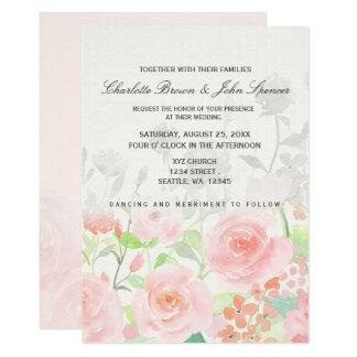 Invitations florales modernes de mariage de