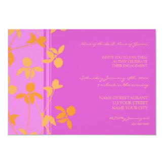 Invitations florales oranges roses de partie de