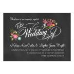 Invitations florales rustiques de mariage de table