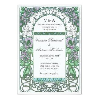 Invitations florales vintages de mariage de