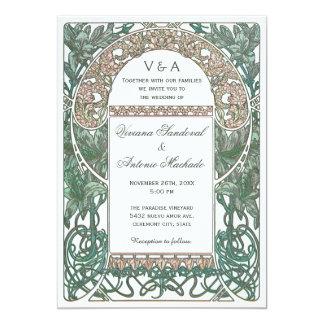 Invitations florales vintages de mariage I