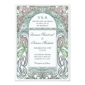 Invitations florales vintages de mariage IV