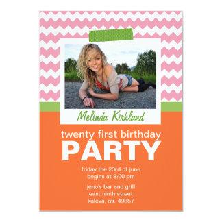 Invitations fraîches de fête d'anniversaire