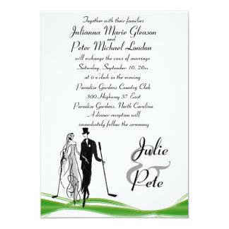Invitations jouantes au golf lunatiques de mariage