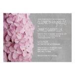Invitations lilas de mariage
