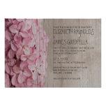 Invitations lilas rustiques de mariage