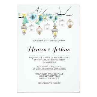 Invitations lunatiques de mariage de lanterne