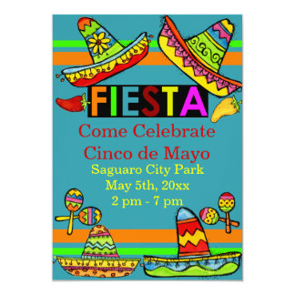 Invitations mexicaines de Cinco De Mayo de fiesta